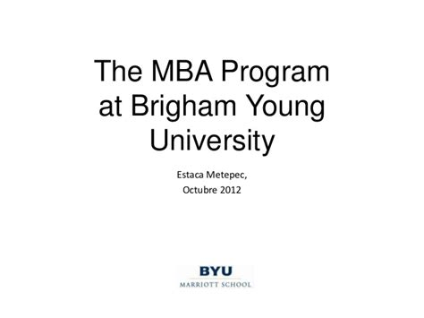 Byu Mba 5 Year Earnings by Mba Brigham