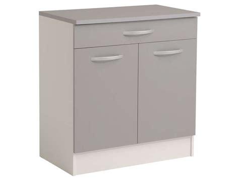 meuble cuisine largeur 55 cm meuble bas 80 cm 2 portes 1 tiroir spoon color coloris