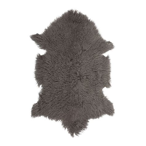 taupe sheepskin rug buy a by amara tibetan sheepskin rug taupe 90x55cm amara