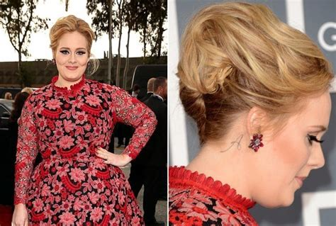 adele tattoo behind ear adele scores an a the 50 most stylish celebrity
