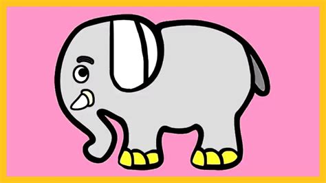 color elephant learn colors with elephant coloring tutorial how to