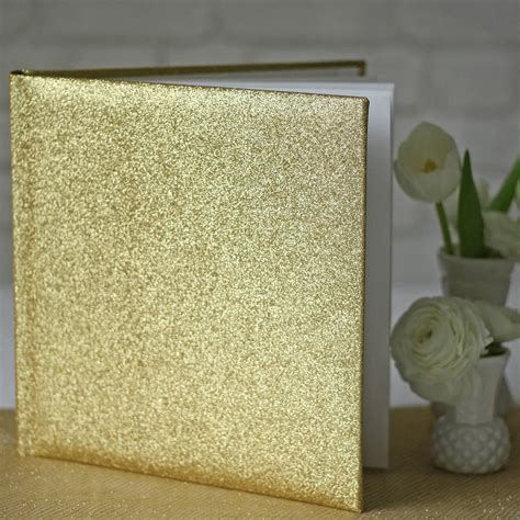 Glitter Book For gold glitter wedding guest book by the wedding of my
