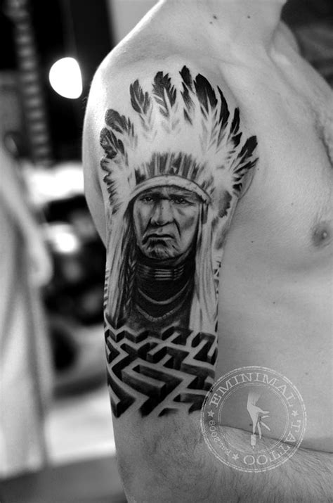 Tattoos Of Indian Chiefs 2 Indian Chief By Eminimal On Deviantart