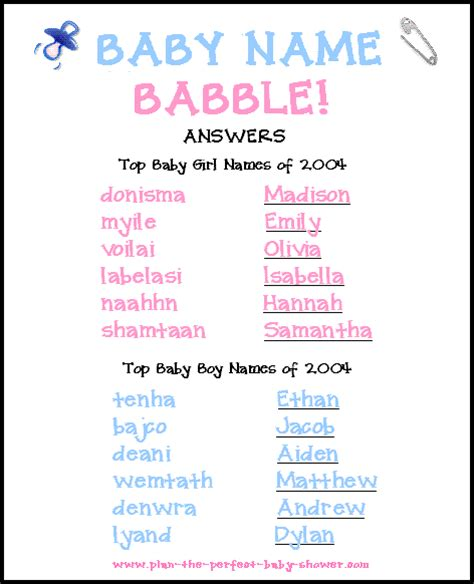 Unscramble Baby Shower Words by Baby Shower Word Unscramble Mahbubrn Me