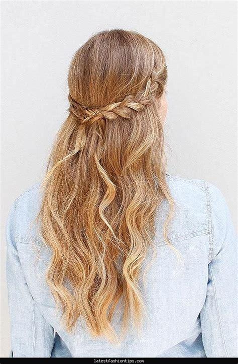 easy homecoming hairstyles down cute hair ideas pinterest latestfashiontips com