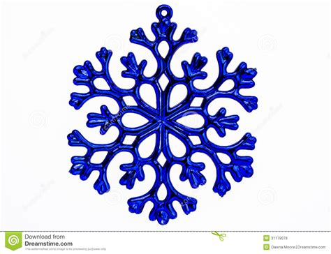 blue snowflake ornament isolated on a white background