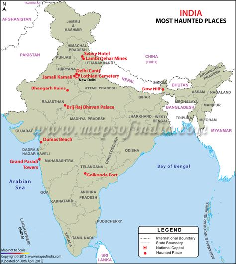 of india image of map of haunted places in india my india
