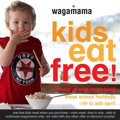 discount vouchers wagamama kids eat free at northwest wagamama northwest shopping