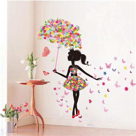 butterfly wall stickers for bedrooms diy wall stickers pvc large wall sticker pink girl