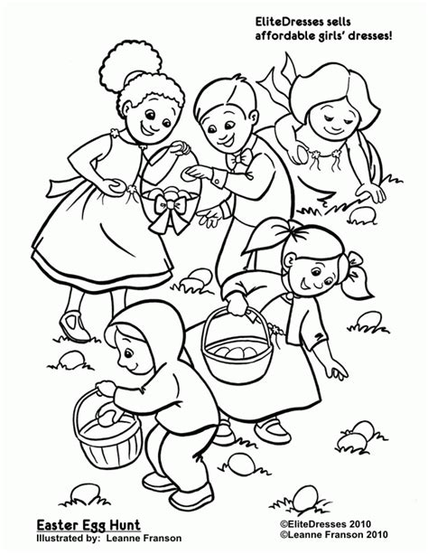 easter egg hunt coloring pages free printable coloring