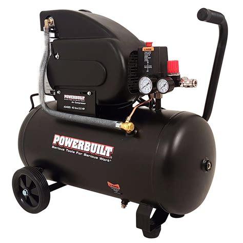 40l 2 5hp air compressor direct drive powerbuilt tools