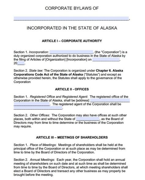 Corporate Bylaws Template Texas Templates Resume Exles 80gzw0ka6x Corporate Bylaws Template Florida