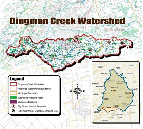 thames river watershed dingman watershed map utrca inspiring a healthy environment