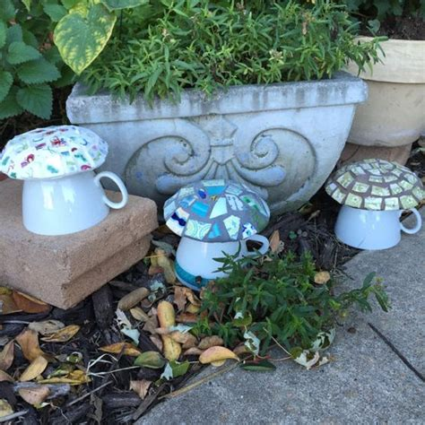 Garden Accessories From China Mosaic Mushrooms Garden Decor House Broken