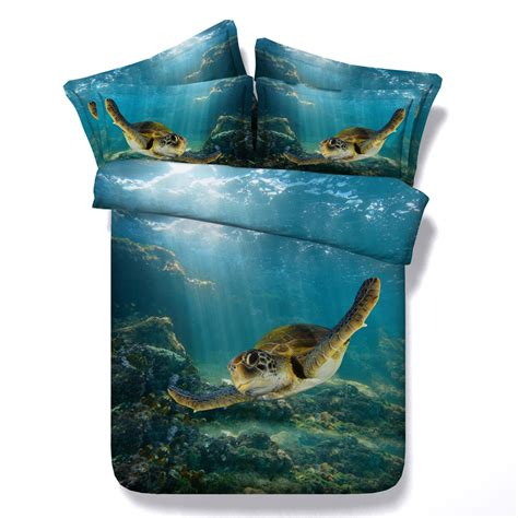 sea turtle comforter digital print hd modal sheets cal king 3d sea turtle quilt