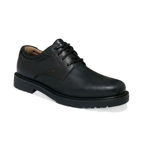 plain black shoes for dockers barlow plain toe shoes in black for lyst