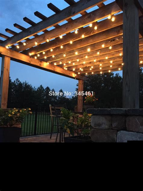 string lights backyard patio globe string lights darcylea design