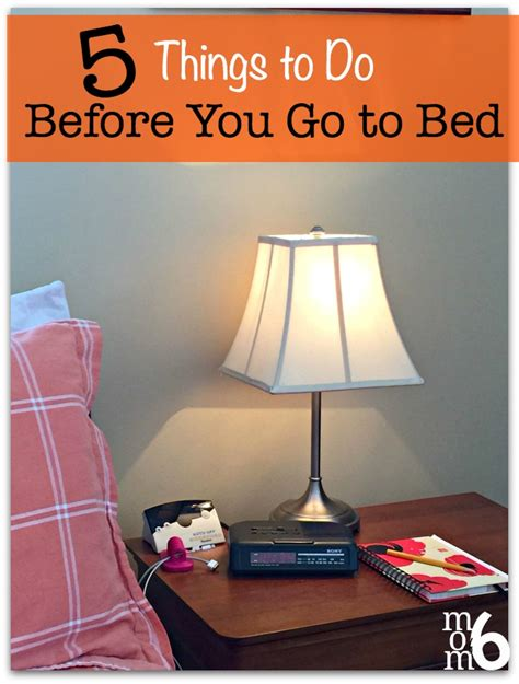 what to do before bed 5 things to do before you go to bed