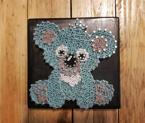 String Animals - baby koala woodland animal string wall