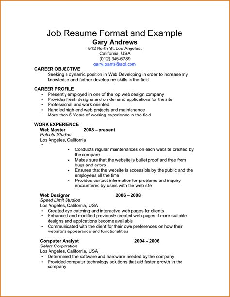 Job Resume Examples With References by Job Resume Examplesreference Letters Words Reference