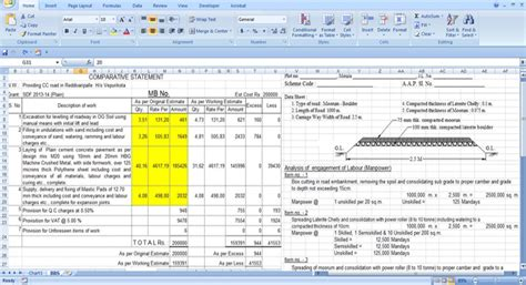 building materials cost estimate sheet engineering feed estimating sheet for road construction engineering feed