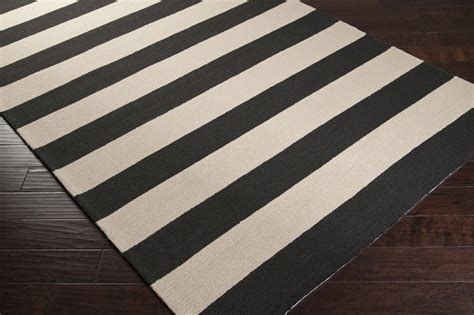 Area Rug Black And White Black And White Striped Rug Decofurnish