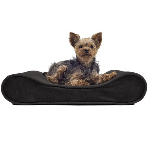 orthopedic pet beds furhaven microvelvet luxe lounger contour orthopedic dog