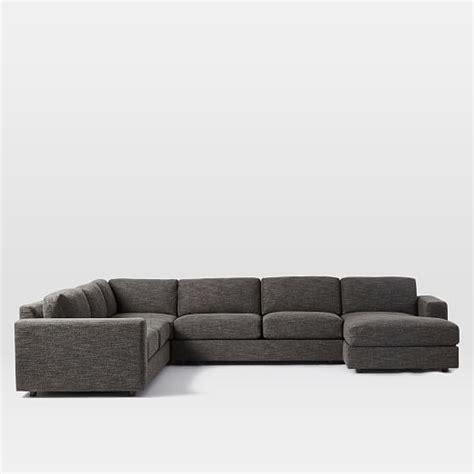 west elm urban sofa review urban 4 piece chaise sectional west elm