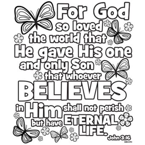coloring page for john 3 16 john 3 16 free n fun easter from oriental trading