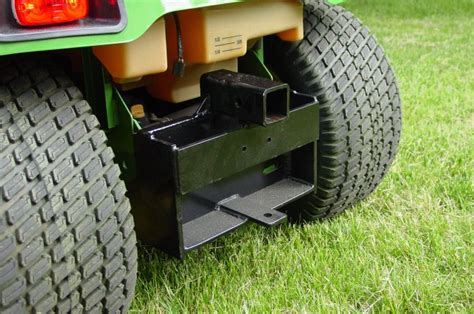 tow boat with lawn tractor receiver hitch for jd x320 mytractorforum the