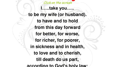 Wedding Vows Sle by Biblical Wedding Vows Traditional Wedding Ideas 2018