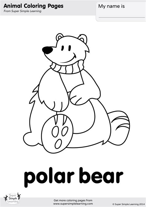 simple bear coloring page polar bear coloring page super simple