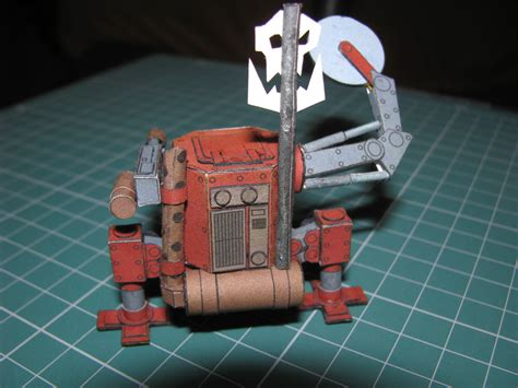 Papercraft 40k - ork killa kan warhammer 40k papercraft by kotlesiu on