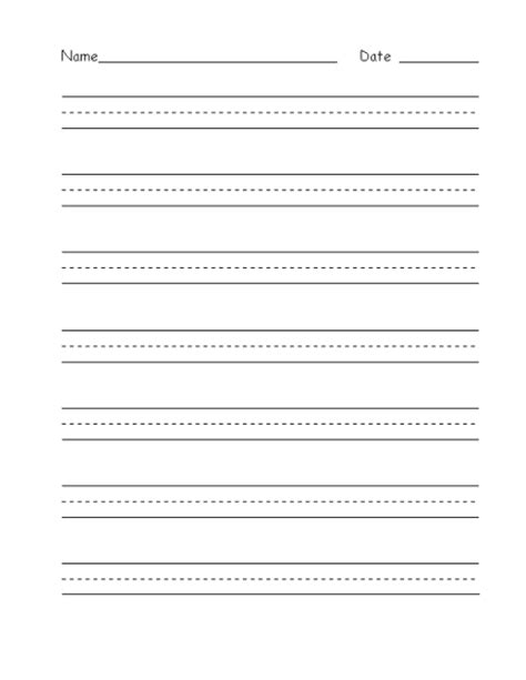 handwriting paper template microsoft word templates