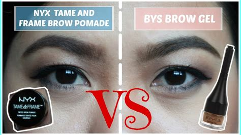 Nyx And Frame nyx and frame brow pomade versus bys brow gel review