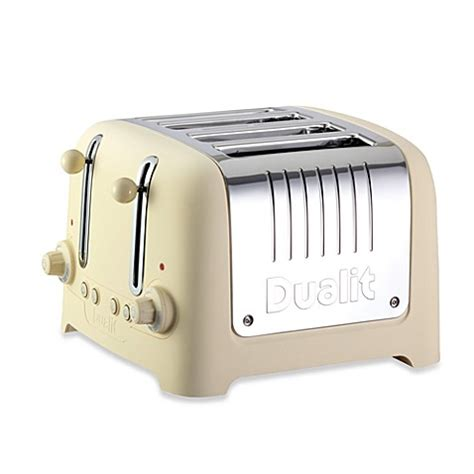 toaster bathtub dualit 174 lite chunky 4 slice toaster in cream bed bath