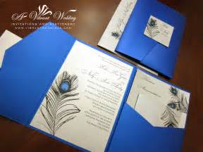 blue themed wedding invitations peacock feather designs a vibrant wedding