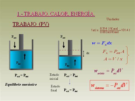 energia interna termodinamica primer principio de termodin 225 mica presentaci 243 n powerpoint