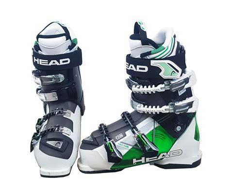 ski boots mens vector 115 mens ski boots black green white used