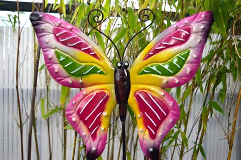 picture colorful object butterfly decoration garden