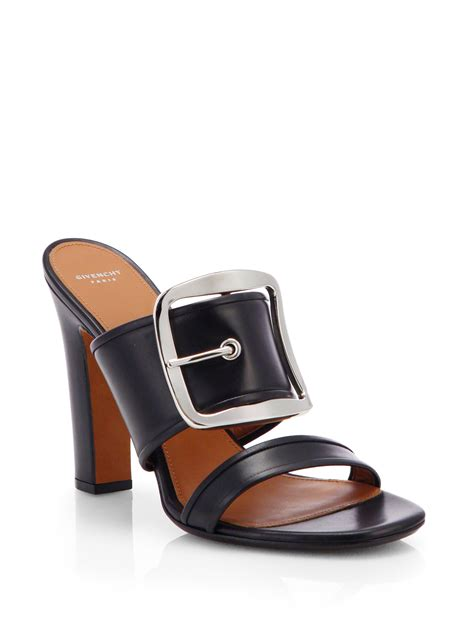 leather mule sandals givenchy odia leather mule sandals in black lyst