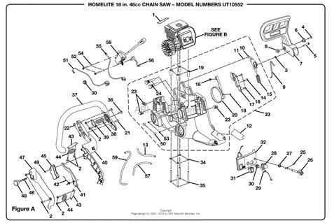 homelite 2 parts diagram homelite 2 chain saw ut 10552 parts diagram for figure a