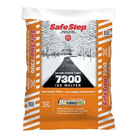 safe step 7300 calcium chloride melt 50 lb pallet of