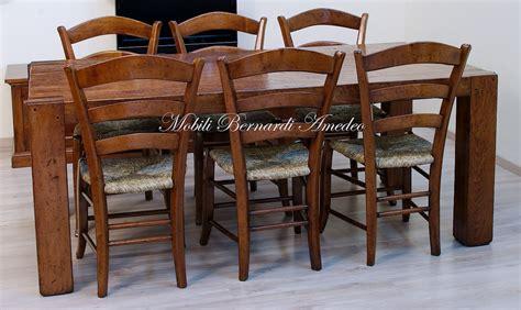 sedie rustiche in legno massello tavolo moderno in legno massiccio tavoli