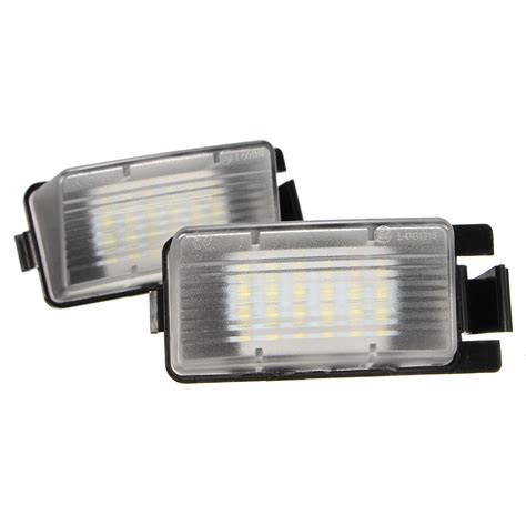license plate light bulb pair 18led number license plate light l bulb white for