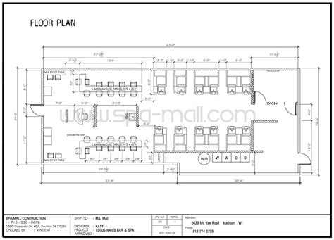 nail salon floor plan salon design layout salon design layout lotus nails bar