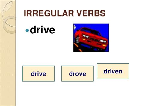 drive verb 3 past irregular verbs