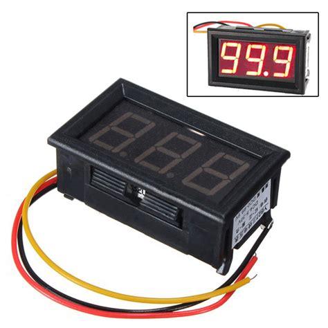 Voltmeter Panel Jarum Dc 15 Volt dc 3 wire led digital display panel volt meter voltage