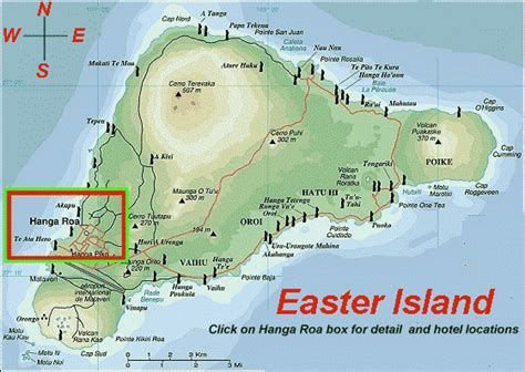 easter island map images and places pictures and info chile and easter island map