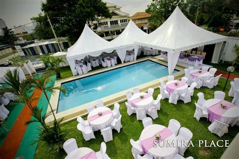 Backyard Wedding Ideas With Pool Poolside Wedding Reception